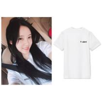 ALLKPOPER Kpop T-ara Park Hyo Min T-shirt Selfie Tshirt 2017 New Casual Cotton Summer Tee