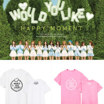ALLKPOPER KPOP WJSN EXY T-shirt Luda WOULD YOU LIKE HAPPY MOMENT Tshirt Unisex Cotton Tee