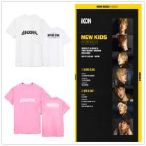 ALLKPOPER KPOP IKON NEW KIDS BEGIN T-shirt Song Yun Hyeong Tshirt Koo JunHoe Cotton B.I
