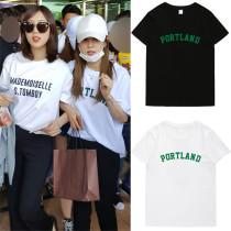 ALLKPOPER Kpop Apink Park Cho Rong Tshirt 2017 New Street Shooting T-shirt Casual Tee