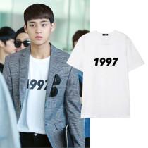 ALLKPOPER Kpop Seventeen MINGYU T-shirt Tshirt 2017 Casual Cotton Tee tops Short Sleeve
