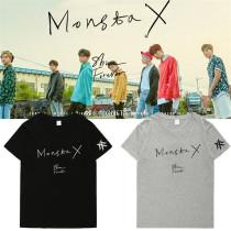 ALLKPOPER Kpop Monsta X T-shirt Shine Forever Shownu Wonho Hyungwon Minhyuk Tshirt Tops