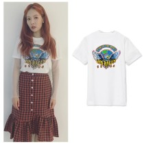 ALLKPOPER Kpop 4Minute Kim Hyun A Tshirt 2017 New Casual Cotton Tee Short Sleeve