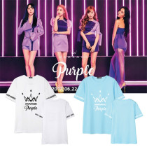 Allkopoper KPOP Mamamoo T-shirt Album Purple Tshirt 2017 Summer Tee Tops Solar Whee In