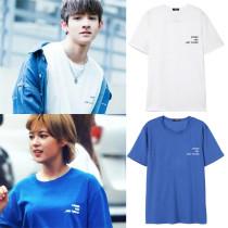 ALLKPOPER KPOP Twice Yoo JungYeon T-shirt Produce 101 Kim Samuel Tshirt 2017 New Casual