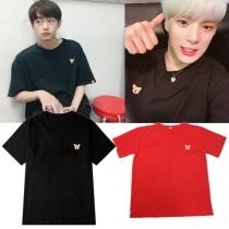 ALLKPOPER KPOP MONSTA X MINHYUK T-shirt Kimyongguk Keke dog Tshirt 2017 New Casual Tops