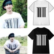 ALLKPOPER KPOP Monsta X WONHO T-shirt Travel Outdoor Tshirt The same paragraph Tee Casual Tops