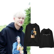 ALLKPOPER KPOP MONSTA X Lee Joo Heon Cap Hoodie Street Shooting Hoody Pollover Sweatershirt Casual Tops