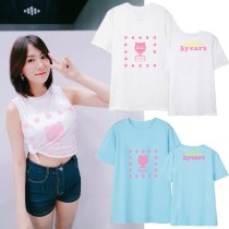 ALLKPOPER KPOP APink 3years Tour Concert Playing Suit Casual letter Tee Tops