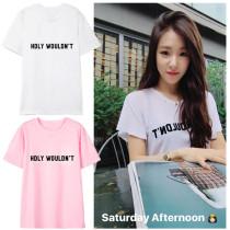 ALLKPOPER KPOP Girls' Generation Tiffany T-shirt Selfie Tshirt Casual Letter Tee SNSD Tops