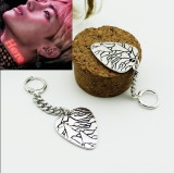ALLKPOPER KPOP BTS V Earring Bangtan Boys Wings Fashion Jewelry Retro Silver Pendant