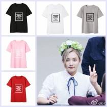 ALLKPOPER KPOP SEVENTEEN JEONGHAN T-shirt Tshirt Casual Letter Tee Tops