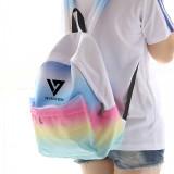 ALLKPOPER KPOP BTS Backpack EXO Bag GOT7 Gradient Color Bookbag MONSTA X Student Back SEVENTEEN