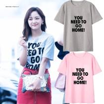 ALLKPOPER KPOP I.O.I Se Jeong T-shirt Street Shooting Tshirt Casual Letter Tee Tops CRUSH