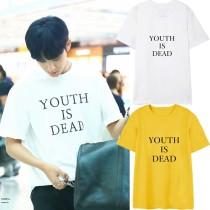 ALLKPOPER KPOP Seventeen MINGYU Tshirt Street Shooting T-shirt Casual Letter Tee Tops