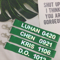 ALLKPOPER KPOP EXO Key Chain CHEN Keyring KAI SEHUN DO SUHO BAEKHYUN LUHAN LAY KRIS TAO