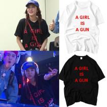 ALLKPOPER KPOP 2NE1 Park Hill T-shirt Street Shooting Tshirt Casual Letter Tee Tops
