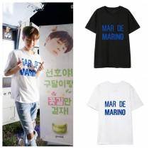 ALLKPOPER KPOP PRODUCE 101 Yoo Seon-Ho T-shirt Street Shooting Tshirt Casual Letter Tee Tops