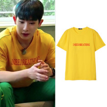 ALLKPOPER KPOP Monsta X WONHO T-shirt NEWTON Tshirt Casual Letter Tee Tops