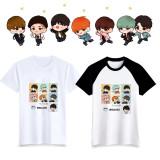 ALLKPOPER KPOP BTS Cartoon T-shirt Bangtan Boys Tshirt Love Yourself Letter Tee  V SUGA