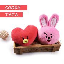 ALLKPOPER KPOP BTS 21 Plush Toy TATA COOKY BT21  Stuffed Doll Bangtan Boys JIMIN V JUNG KOOK