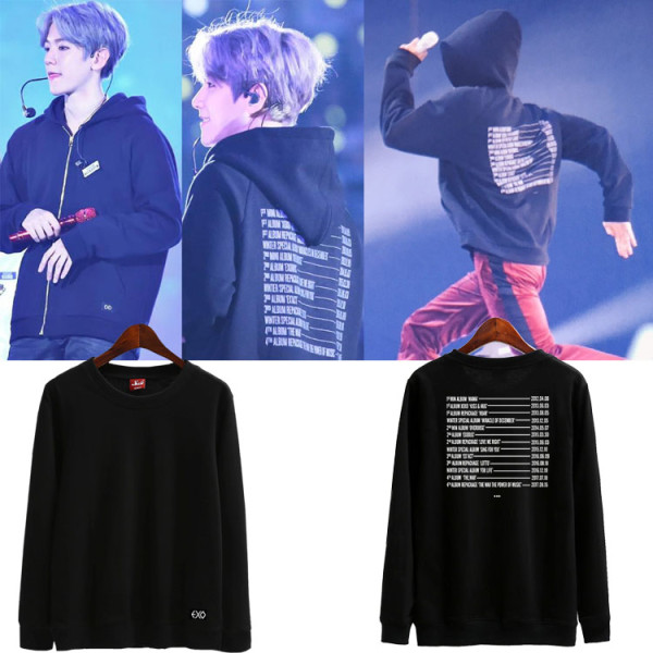 ALLKPOPER KPOP EXO Sweater The EℓyXiOn Pullover XIUMIN CHEN Sweatershirt CHANYEOL BAEKHYUN