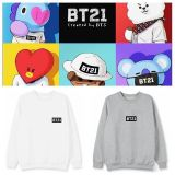 ALLKPOPER KPOP BTS BT21 Sweater Bangtan Boys Pullover Love Yourself Sweatershirt JUNG KOOK