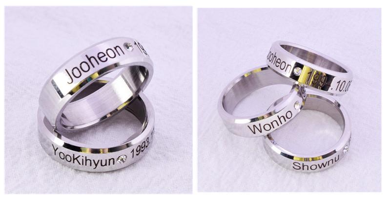 MONSTA X Ring Finger Rings