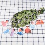 KPOP BTS Keychain Bangtan Boys Keyring Fake Love Acrylic Pendant SUGA V JIN