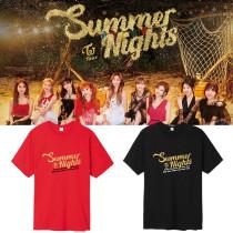 KPOP TWICE T-shirt Summer Nights Ablum Tshirt MINA Tzyu Tee Casual Letter Tops