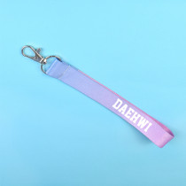 KPOP Wanna One Keychain Gradient Color Cellphone Holder Strap Kang Daniel Keyring