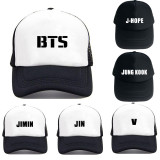 Kpop BTS Baseball Cap Adjustable Snapback Jungkook SUGA V Hat Jhope Jimin