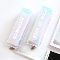 KPOP Wanna One Pencil Case Hologram Holographic Laser Bag Kang Daniel Lai Kuan Lin Makeup Bag