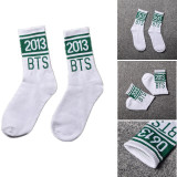 Kpop BTS Socks Bangtan Boys Cotton Mid Tube Socks
