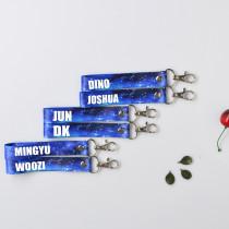 ALLKPOPER KPOP Seventeen17 Keychain Starry Sky Phone Strap HOSHI MINGYU DK Woozi Keyring