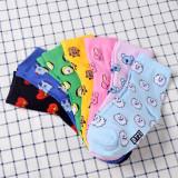 ALLKPOPER KPOP BTS Socks J-HOPE SUGA Cotton Mid Tube Socks Support Gift TATA Sock