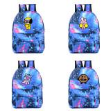ALLKPOPER KPOP BTS Schoollbags CHIMMY COOKY KOYA MANG RJ BT21 Starry Backpack TATA