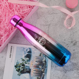 Kpop BTS Thermos Cup Stainless Steel Travel Bottle Vacuum Insulated Tumbler Coffee Cup Gradient Color