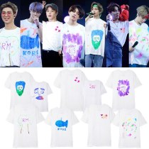 ALLKPOPER KPOP BTS Tshirt Bangtan Boys Same Graffiti T-shirt 5TH MUSTER Busan Seoul Concert O-neck short-sleeved T-shirt summer unisex