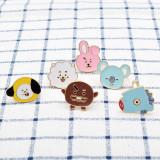 KPOP BTS Ring Cartoon Anime TATA CHIMMY COOKY Finger Rings Koya Mang