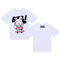 Kpop BTS Tshirt Bangtan Boys Chimmy Cooky Koya Mang RJ T-shirt Tops Tee