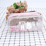 KPOP BTS Pencil Case Hologram Holographic Glitter Quicksand Lase