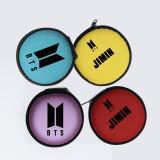 Kpop BTS Headphone Case Bag Earbud Hard Box Speak Yourself Name Storage Cable Organizer