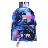 Kpop BTS USB Charging Schoolbag JIMIN JIN SUGA JUNGKOOK Starry Sky Bags Satchel Shoulder Bag