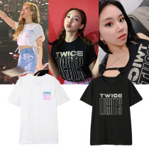 Kpop 2019 TWICE LIGHTS Concert T-shirt MOMO DAHYUN JIHYO JUNGYEON TZUYU Tee Tops