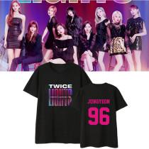 Kpop TWICE T-shirt 2019 WORLD TOUR TWICELIGHTS Concert Tshirt Tee Tops MOMO