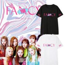 K-pop TWICE T-shirt Fancy You Tshirt MOMO DAHYUN JIHYO TZUYU Tee Tops