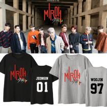K-pop Stray Kids T-shirt MV MIROH HYUNJIN CHANGBIN SEUNGMIN the same style Tee Tops