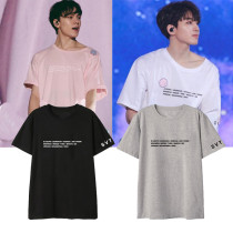 KPOP Seventeen T-shirt SEVENTEEN combination day tour FM concert around the print song clothes with the short-sleeved T-shirt