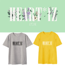 Kpop IZONE T-shirt IZONE combination with the same album HEARTIZ around the support short-sleeved T-shirt printing songs clothes